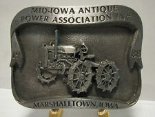 Massey 15-22 Tractor Belt Buckle 1988 Marshalltown Ltd Ed 20 / 250 Strickler 2nd