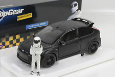 FORD FOCUS RS 500 2010 FLAT BLACK MATT TOP GEAR WITH FIGURE 1:18 Minichamps