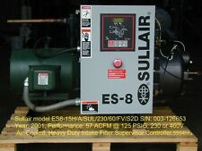 USED 15 HP ES-8  SULLAIR ROTARY ON OPEN SKID MOUNT 3 PHASE
