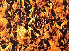 TT104 Fierce Flames Fire Hot Emergency Call The Firemen Cotton Quilt Fabric