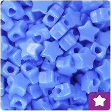 250 Periwinkle Blue Opaque 13mm Star Pony Beads Made in the USA