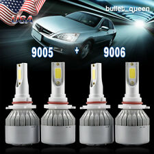 9005 9006 Combo LED Headlight Bulbs Kit High Low Beam for 1997-2007 Honda Accord