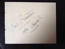 CARL BARRITEAU - LATE GREAT CLARINET PLAYER - SIGNED VINTAGE ALBUM PAGE