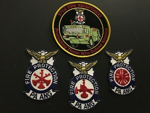 Pennsylvania Air National Guard Fire Department Patch Set.