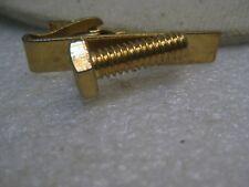 """Tie Clasp, 1-5/8"""", 1960's/1970's Vintage Gold Tone Rsc Bolt"""