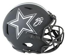 Cowboys Emmitt Smith Signed Eclipse Full Size Speed Proline Helmet BAS Witnessed