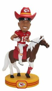 Patrick Mahomes Kansas City Chiefs Riding Warpaint Horse Bobblehead NFL