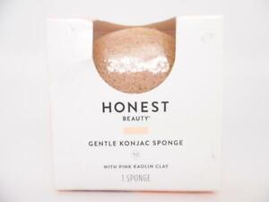Honest Beauty Gentle Konjac Sponge with Pink Kaolin Clay Paraben Free - 1 Sponge
