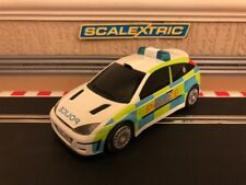 Scalextric Ford Focus WRC Police Car / Flashing Lights & Siren, Fully Serviced