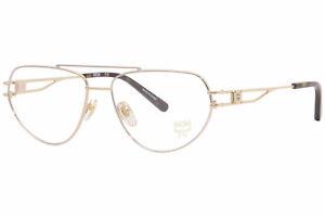 MCM MCM2129 715 Eyeglasses Women's Gold/Havana Full Rim Pilot Optical Frame 57mm
