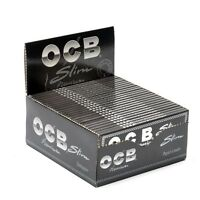 Authentic OCB PREMIUM BLACK KING SIZE SLIM SMOKING CIGARETTE ROLLING PAPERS UK
