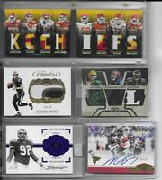 NFL Football Cards Hot Packs!  Repacks :: 2 Auto/Jersey 10 Cards!