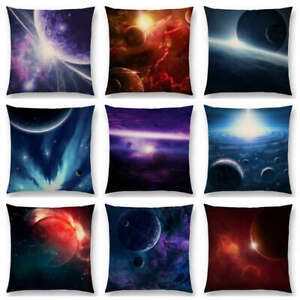 Mysterious Universe Vast Outer Space Beautiful Planets Fantasy  Cushion Cover