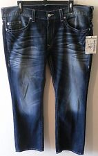 NWT True Religion Mens Basic Straight Leg Jeans 44 CMZD Rogue MMD800TS MSRP$251