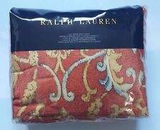 Ralph Lauren Red Floral Isla Menorca Scroll 100% Cotton Full/Queen Duvet Cover