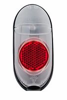 Basta Rear Light Axa Riff Steady LED Luggage Carrier 80 mm Red//Clear approx 45g