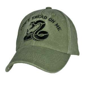 U.S MILITARY DON'T TREAD ON ME HAT EMBROIDERED BALL CAP MARINE CORPS