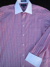 Paul Fredrick Mens Button Front Long Sleeve Cotton Plaid Shirt 15