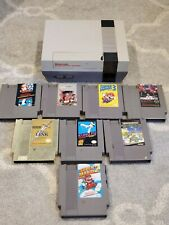 Nintendo NES System w/ 8 Games Mario 1, 2, 3, Mike Tyson Punch Out Zelda Contra