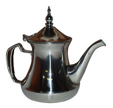 Tea Pot Coffee Kettle Stainless Steel Moroccan Stylish Serving Brewing LG 36 Oz.