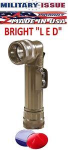 new ( LED ) Flashlight OD Fulton Military Issue Angle Head Flashlight MX-991/USA