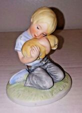 Frances Hook Figurine For A Mothers Love Boy With Puppy 1983