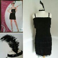 Showtime Size Medium 14 - 16 Flapper Girl Dress & Feather Headband Fancy Dress