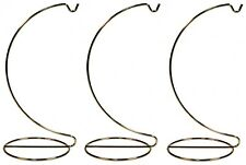 Creative Hobbies 10 Inch Tall Gold Wire Ornament Display Hanger Stands for
