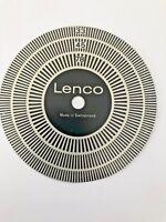 Lenco  Original Turntable Strobe Disc