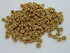 250 pce Antique Gold Daisy Spacer Beads 4mm x 2mm