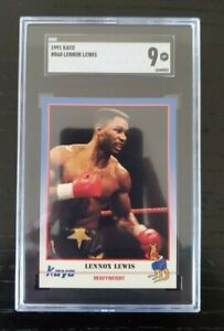 1991 Kayo Boxing #068 Lennox Lewis Low Pop Card SGC 9