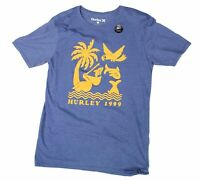 Hurley Mens T-Shirt Blue Yellow Size Small S Short Sleeve Graphic Tee $55 #388