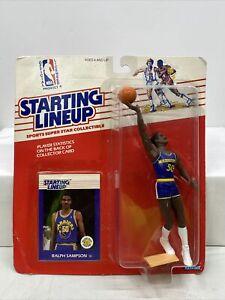 Starting Lineup Ralph Sampson NBA Basketball Figure KENNER 1988 Warriors RARE!