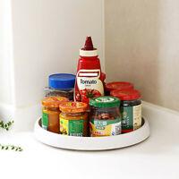 Easy-glide Corner Frame Rotating Condiment Storage Rack Kitchen Storage Tray