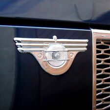 Chrome Wing side repeater indicator trim covers for Range Rover L322 Vogue HSE