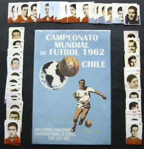 WORLD CUP 62 CHILE 1962 100% COMPLETE STICKER SET + NEW EMPTY ALBUM