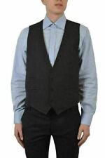 Dolce & Gabbana Silk Black Three Buttons Men's Vest US 38 IT 48