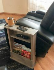 Sofa Side Table, Chair Arm Rest Table, Rustic Stylish Slim and Narrow Tray Table