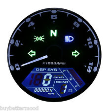 Universal LCD Digital Motorcycle Speedometer Tachometer Odometer Scoot Gauge US