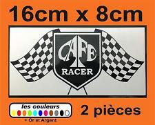 2x Stickers Café Racer - bobber scrambler chopper custom 16x8cm