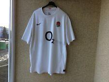 England Home Rugby Union Shirt 2011/2012 Jersey 2Xl Nike White Camiseta