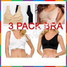 3 Set Sports Bra Black White Beige Seamless ahh Leisure Bra Shapewear