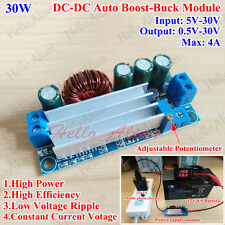 30W 4A CC CV Auto Boost/Buck Step Up/Down Converter DC 5V-30V to 1V-30V 24V 12V