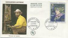 FRANCE FDC - 1426 1 TABLEAU TOULOUSE-LAUTREC 12 Mars 1965 - LUXE
