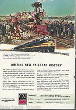 1945 General Motors Diesel advertisement NORTHERN PACIFIC EMD FT 1881 last spike