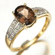 Band Nobby Size 8 Brown Tanzanite 18K Gold Filled Womens Fashion Wedding Ring