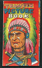 Original 1950's Indian Chief Transfer Picture Book - Japan