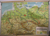 Schulwandkarte Wandkarte Rollkarte Schulkarte Deutschland Großraumkarte 275x191c