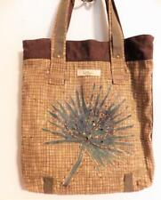 Paul Brent Natura Tote Bag Canvas Wooden Palm Tree Zipper Pull Palmetto