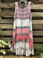 Womens Summer Striped Print Strappy Cami Swing Sleeveless Ladies Mini Dress Vest